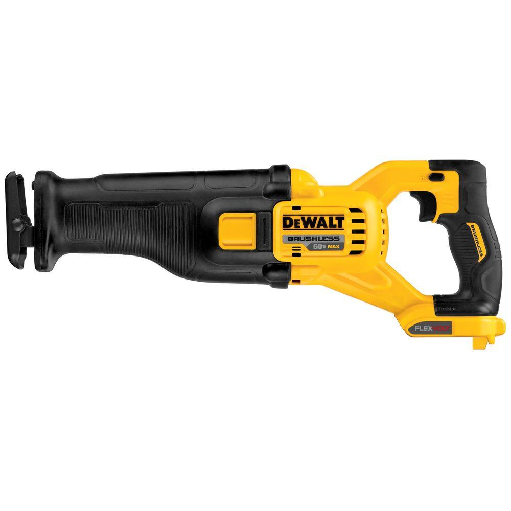 FLEXVOLT 60-Volt MAX Lithium-Ion Cordless Brushless Reciprocating Saw (Tool-Only)