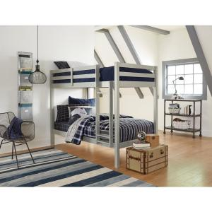 Caspian Gray Twin Over Twin Bunk Bed