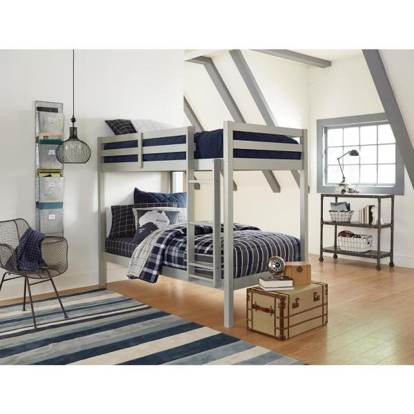 Hillsdale Furniture Caspian Gray Twin Over Twin Bunk Bed