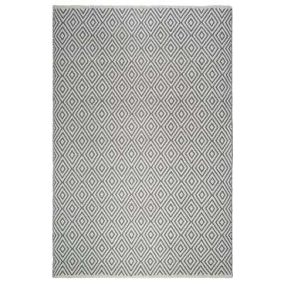Veria Indoor/Outdoor Gray and White 8 ft. x 10 ft. PET Area Rug