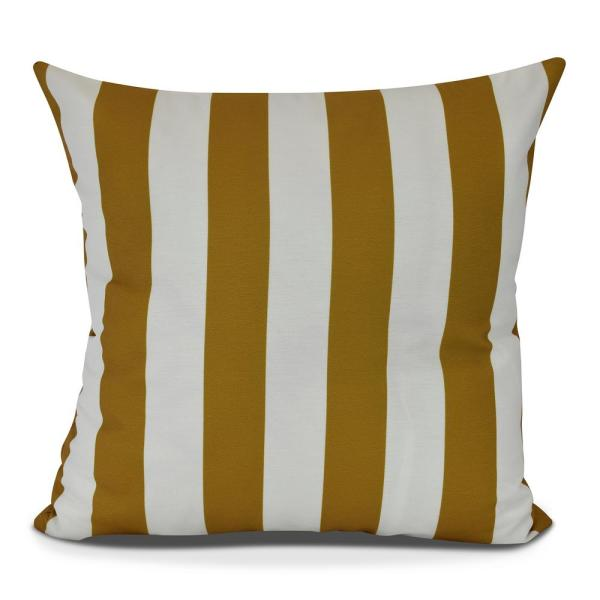 18 in. Rugby Stripe Stripe Print Decorative Pillow PS866YE22-18