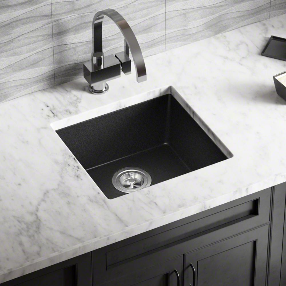 Mr Direct Dualmount Granite Composite 18 In Single Bowl