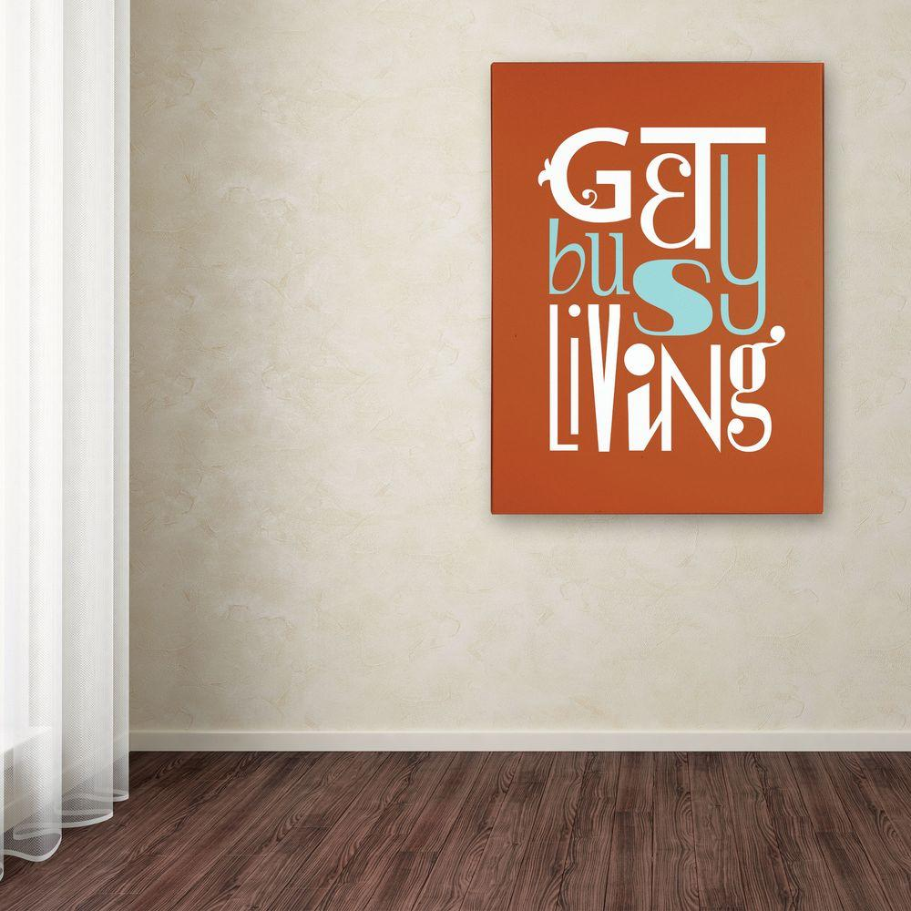 47 in. x 35 in. Get Busy Living III Canvas Art