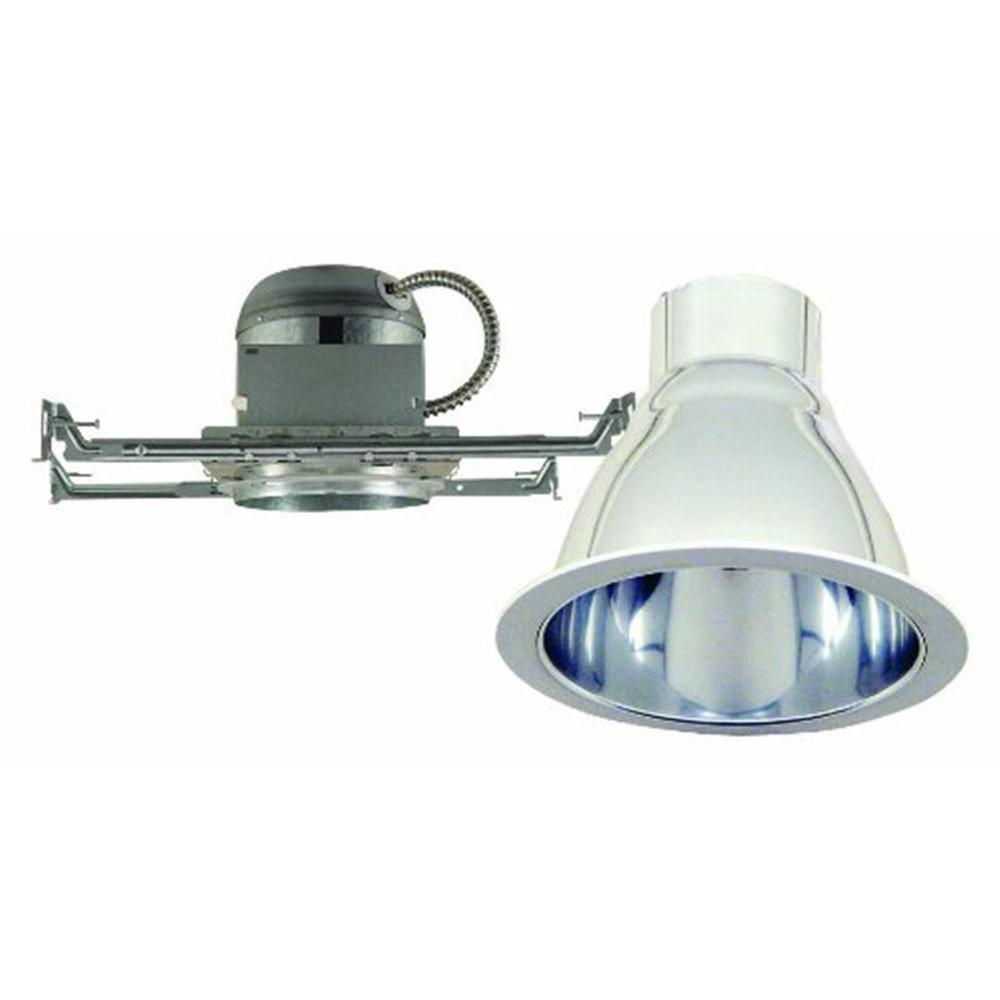 6 in. Chrome Recessed Lighting Kit with White Ring Trim and