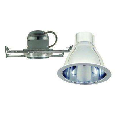 6 in. Chrome Recessed Lighting Kit with White Ring Trim and High Performance Reflector