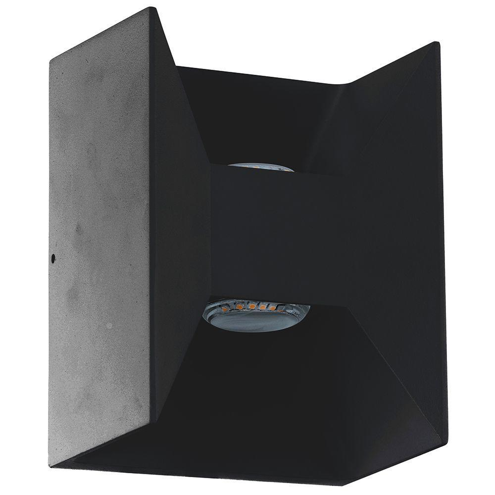 Morino 2-Light Matte Black Outdoor Integrated LED Wall Lantern Sconce