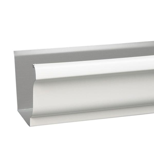 Amerimax Home Products 5 In X 0 3 Ft High Gloss White Aluminum Gutter 26105020252 The Home Depot