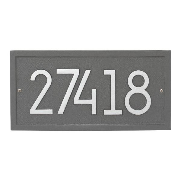 Whitehall Products Rectangle Modern Personalized Rectangle Wall Plaque 3376ps The Home Depot