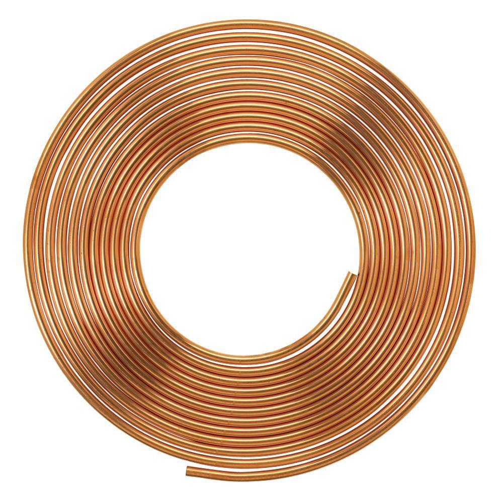 1/2 in. I.D. x 60 ft. Type L Soft Copper Coil Tubing (5/8 in. O.D.)