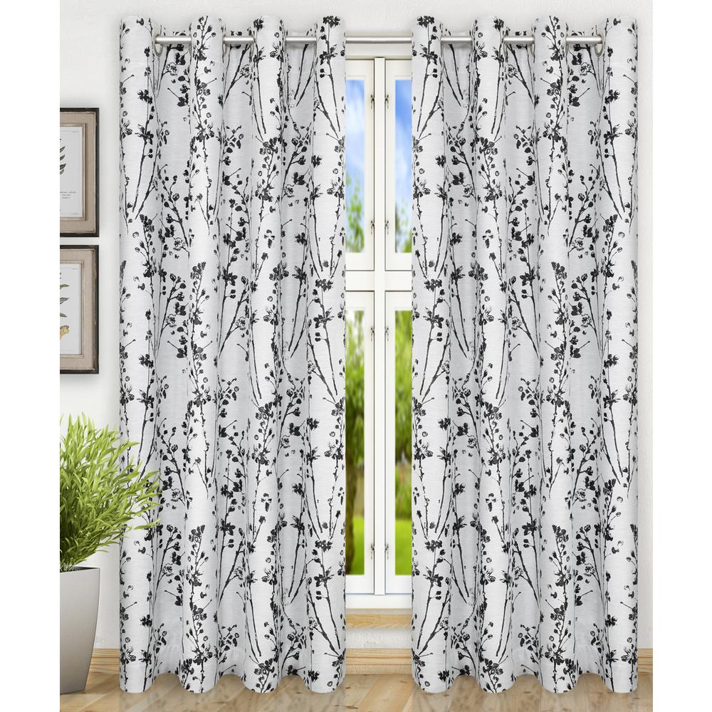 Meadow Polyester Lined Grommet Top Panel in Chrome - 50 in. W x 84 in. L