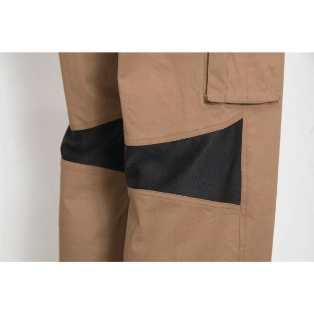 Caterpillar Operator Flex Men S 44 In W X 34 In L Dark Sand Cotton Polyester Spandex Stretch Work Pant 1810038 10244 44 34 The Home Depot