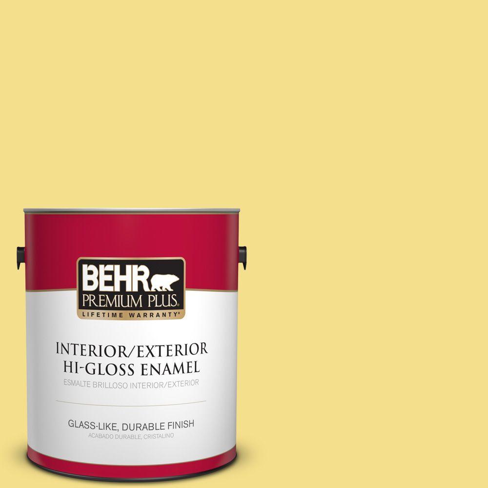 1 gal. #HDC-SP16-03 Lemon Curd Hi-Gloss Enamel Interior/Exterior Paint
