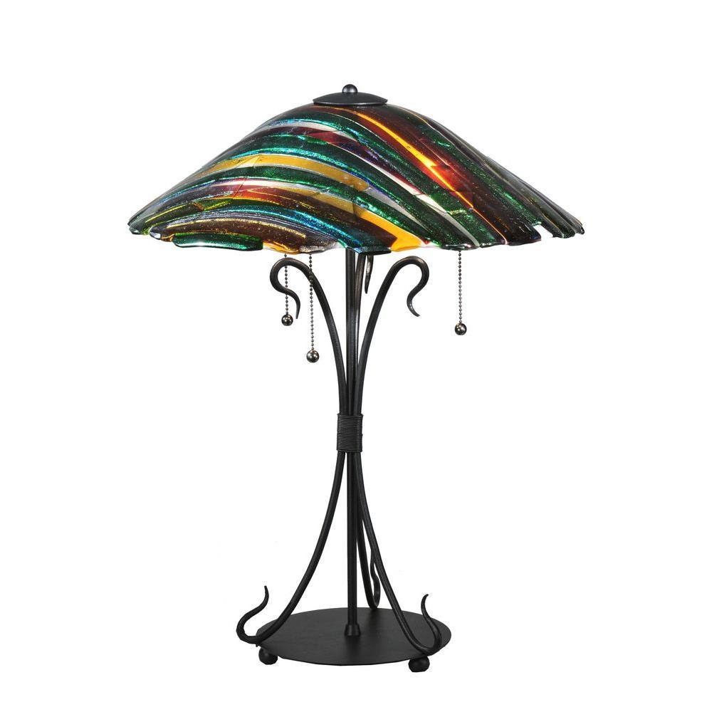 Illumine 3 Light Table Lamp Fused Glass
