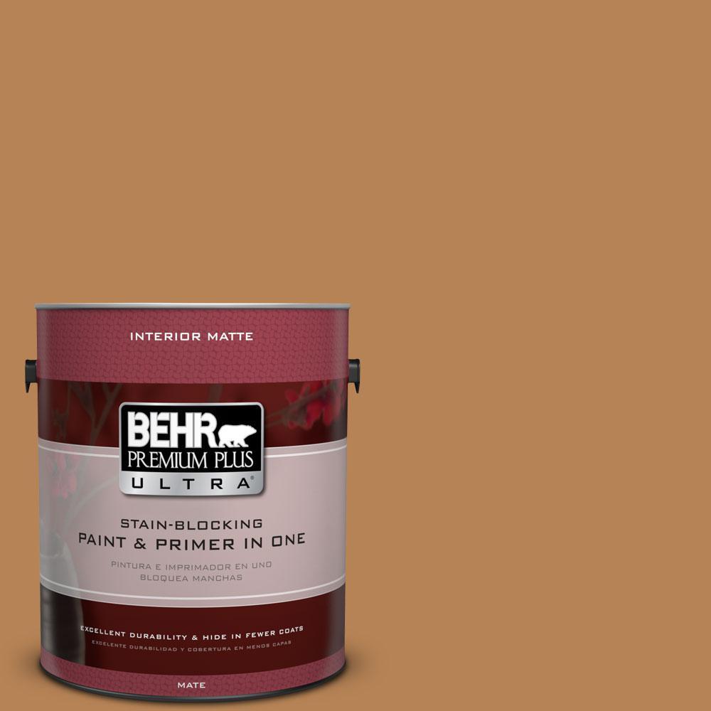 BEHR Premium Plus Ultra 1 gal. #S250-5 Roasted Cashew Matte Interior Paint