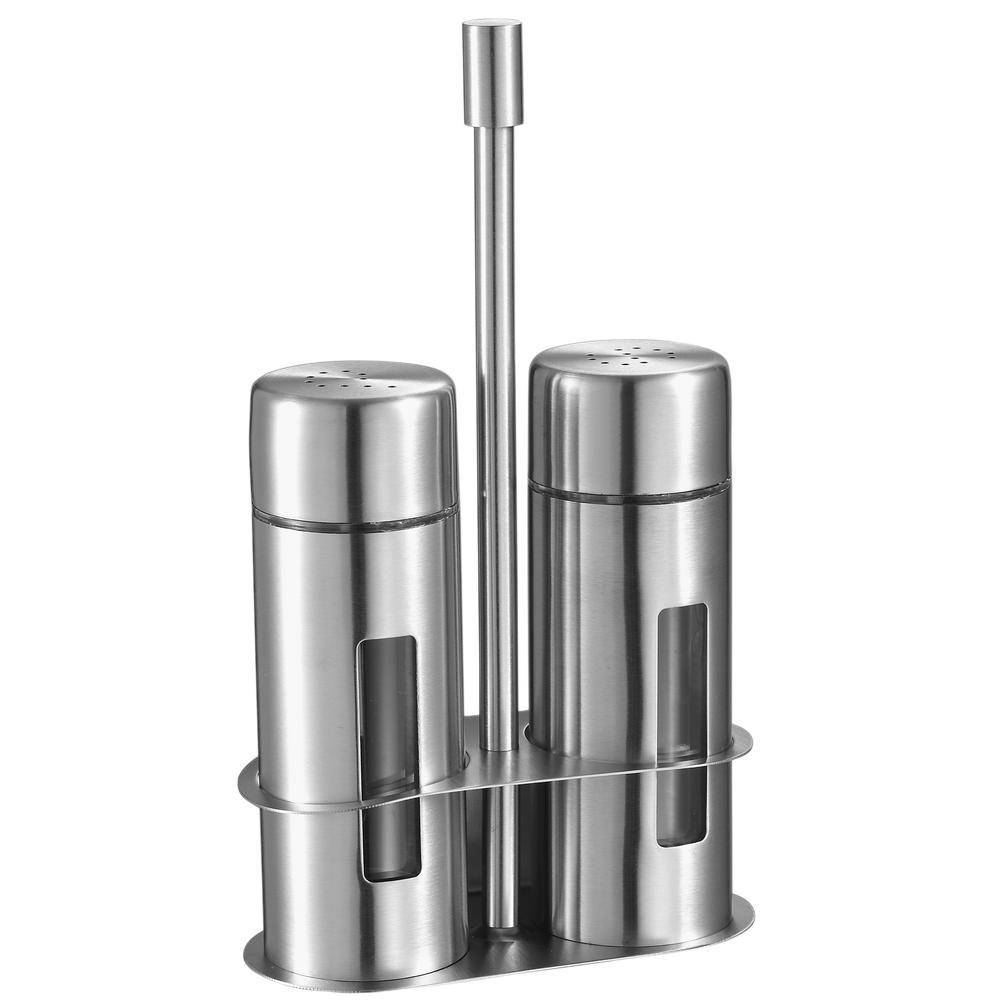 Visol Gilberte Stainless Steel Salt Pepper Shakers Vac332 The