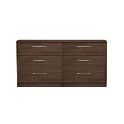 Oriole 6-Drawer Walnut Dresser