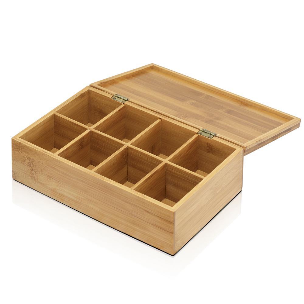 DaPur Bamboo Tea Box with Solid Lid