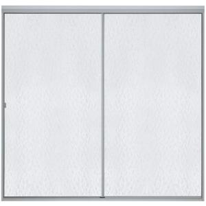Sterling Standard 59 inch x 56-7/16 inch Framed Sliding Bathtub Door in Soft Silver with Handle by STERLING