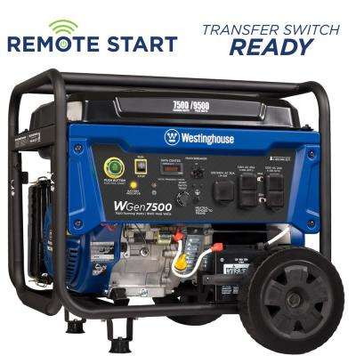 7,500-Watt Gasoline Powered Wireless Remote Start Portable Generator with Westinghouse Engine