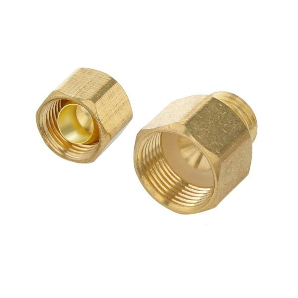 1/4 in. OD Compression x 3/8 in. Flare Brass Adapter Fitting