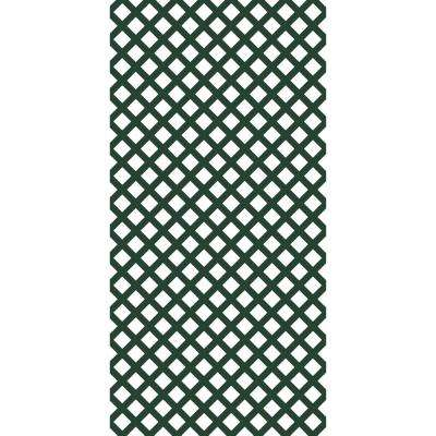 4 ft. x 8 ft. Forest Green Traditional Vinyl Lattice (2-Pack)
