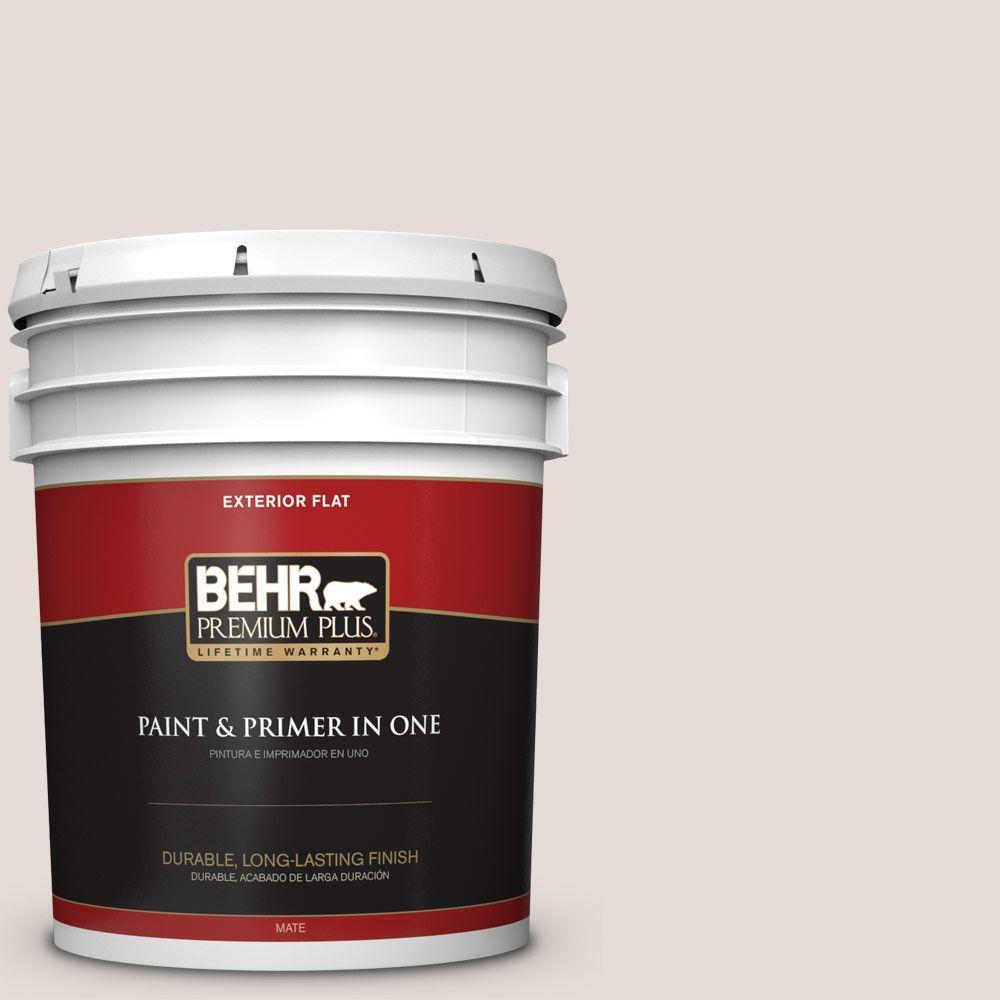 BEHR Premium Plus 5-gal. #N220-1 Spun Wool Flat Exterior Paint