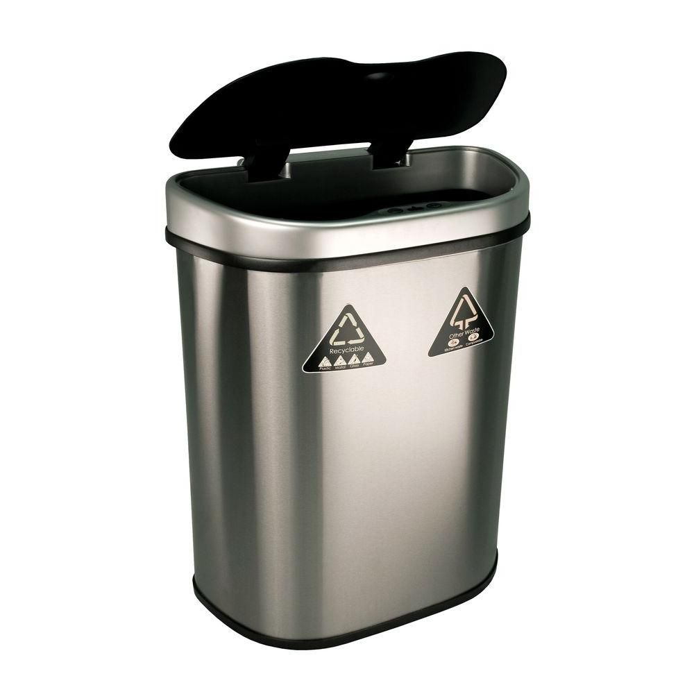 Nine Stars 18.5 gal. Motion Sensor Auto Open Recycling Bin