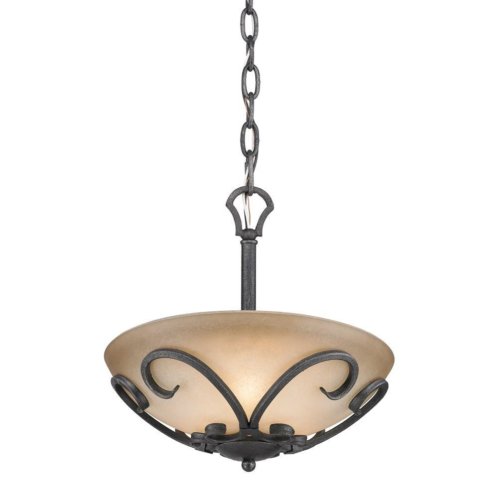Golden lighting madera collection 3 light black iron semi flush golden lighting madera collection 3 light black iron semi flush mount pendant convertible aloadofball Image collections