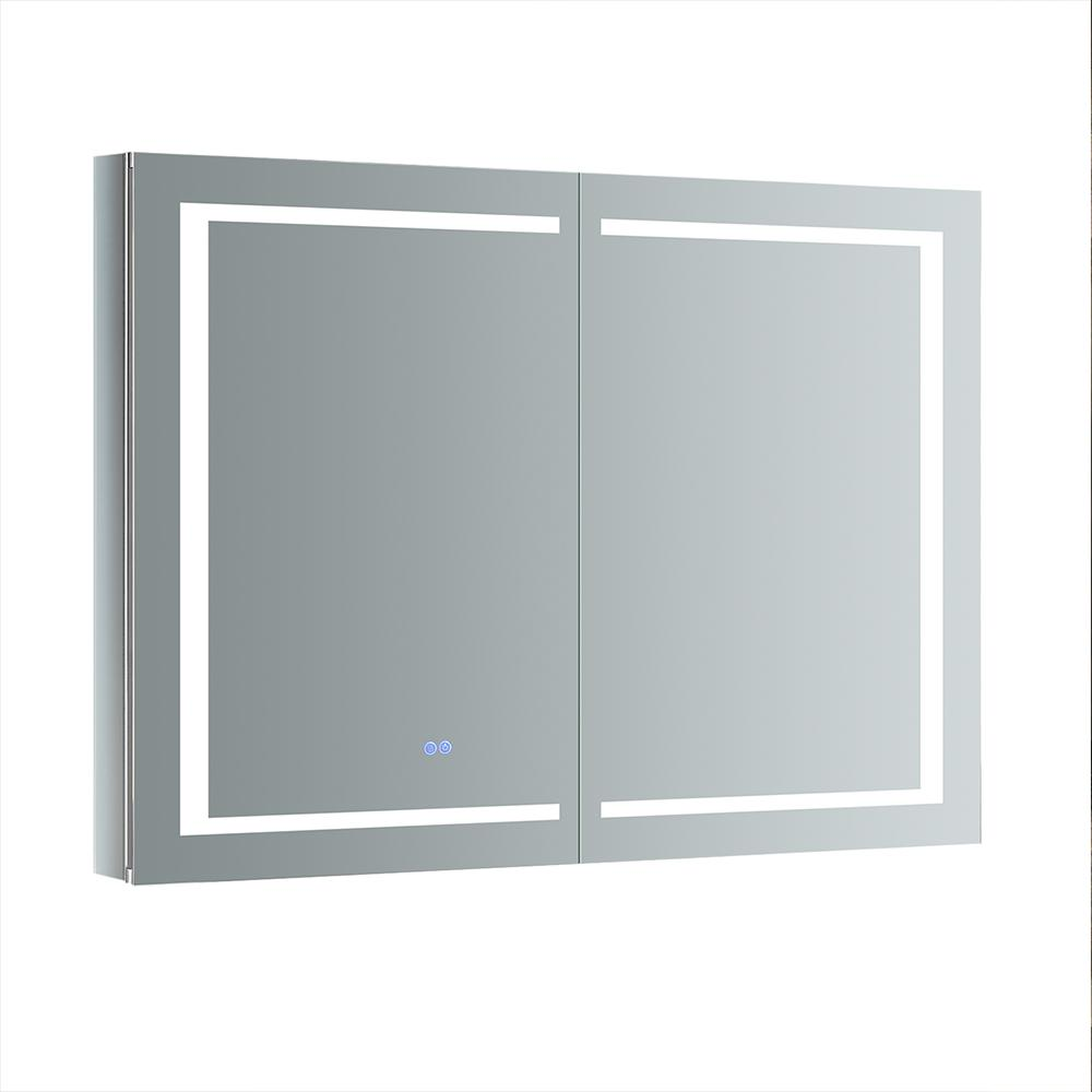 Fresca Spazio 48 in. W x 36 in. H Recessed or Surface Mount Medicine Cabinet with LED Lighting and Mirror Defogger