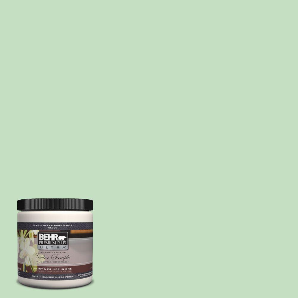 BEHR Premium Plus Ultra 8 oz. #450C-3 Green Myth Interior/Exterior Paint Sample