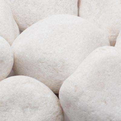 3 in. to 5 in., 20 lb. Large Snow White Pebbles