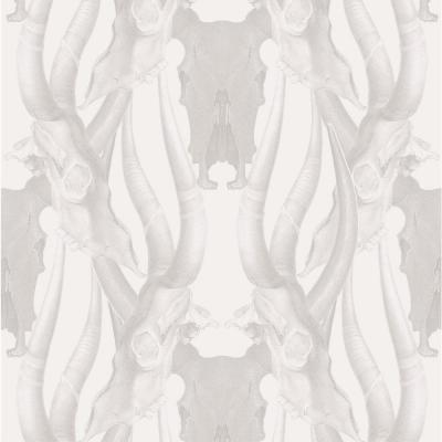 Debut Collection Bull Smoke in Grey Removable and Repositionable Wallpaper