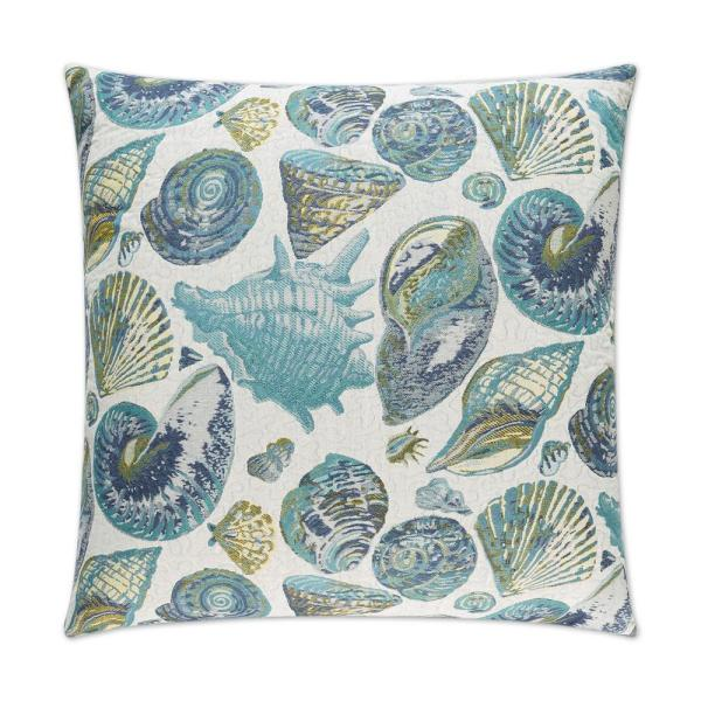 Sanibel Turquoise Geometric Down 24 in. x 24 in. Throw Pillow