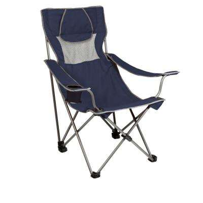 Campsite Folding Camp Navy And Grey Patio Chair
