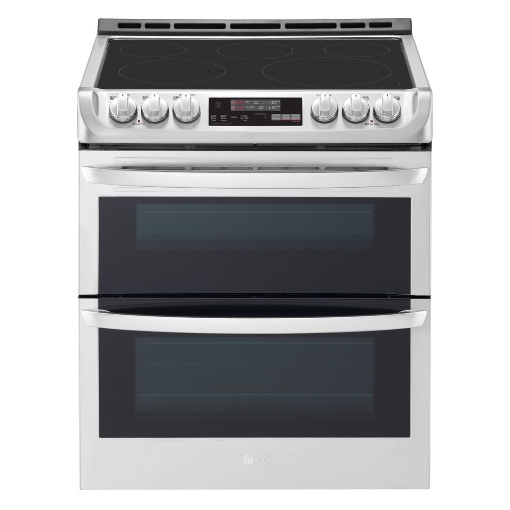 Smart Double Oven Electric Range Self Cleaning Convection And Wi Fi Enabled In Stainless Steel