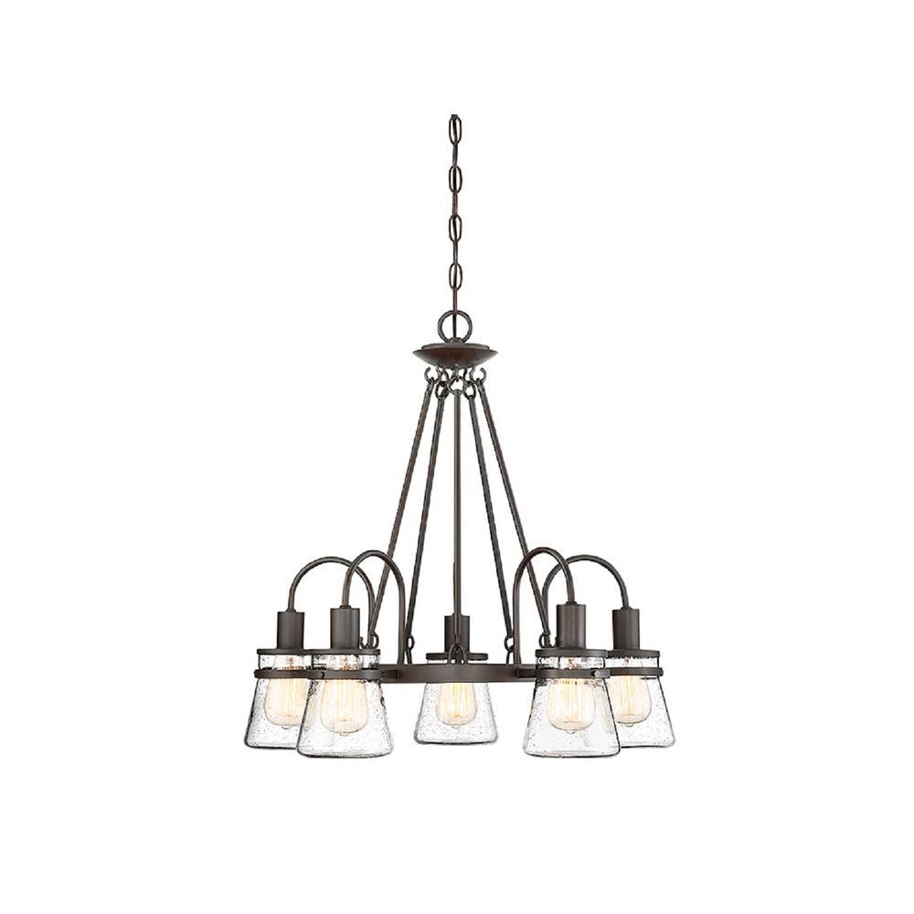 Filament Design 5-Light English Bronze Outdoor Hanging Chandelier