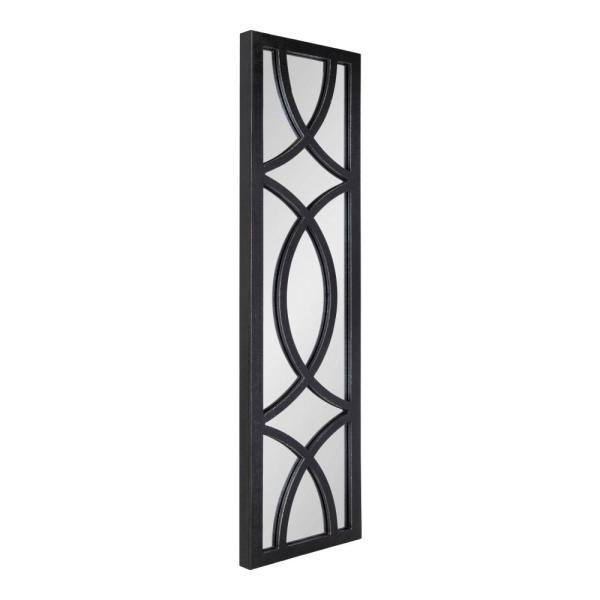 Large Rectangle Black Classic Mirror (47.24 in. H x 11.73 in. W)