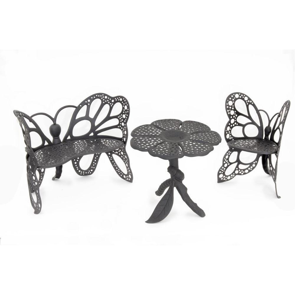 High Quality FlowerHouse Cast Aluminum Butterfly Patio Table