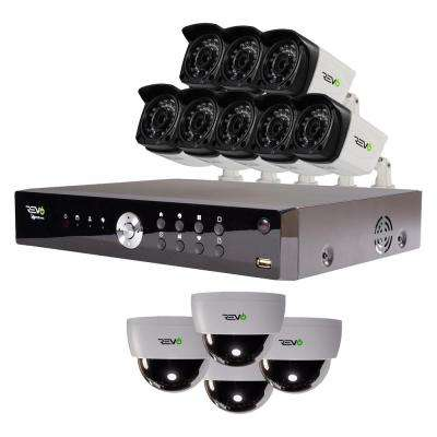 Aero 16-Channel HD 2TB Surveillance DVR with 12 Indoor/Outdoor Cameras