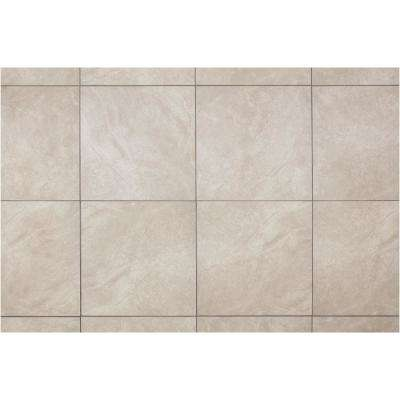 Portland Stone Gray 18 in. x 18 in. Glazed Ceramic Floor and Wall Tile (2.25 sq. ft. / piece)