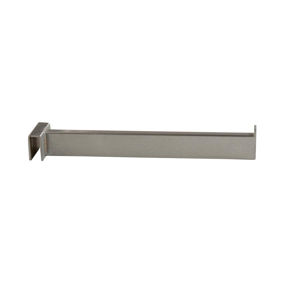 12 in. L Satin Chrome Rectangular Tubing Faceout for Hangrail