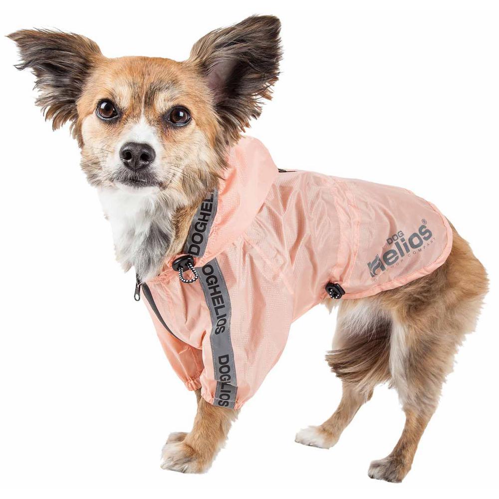 Large Pink Torrential Shield Waterproof Multi-Adjustable Pet Dog Jacket