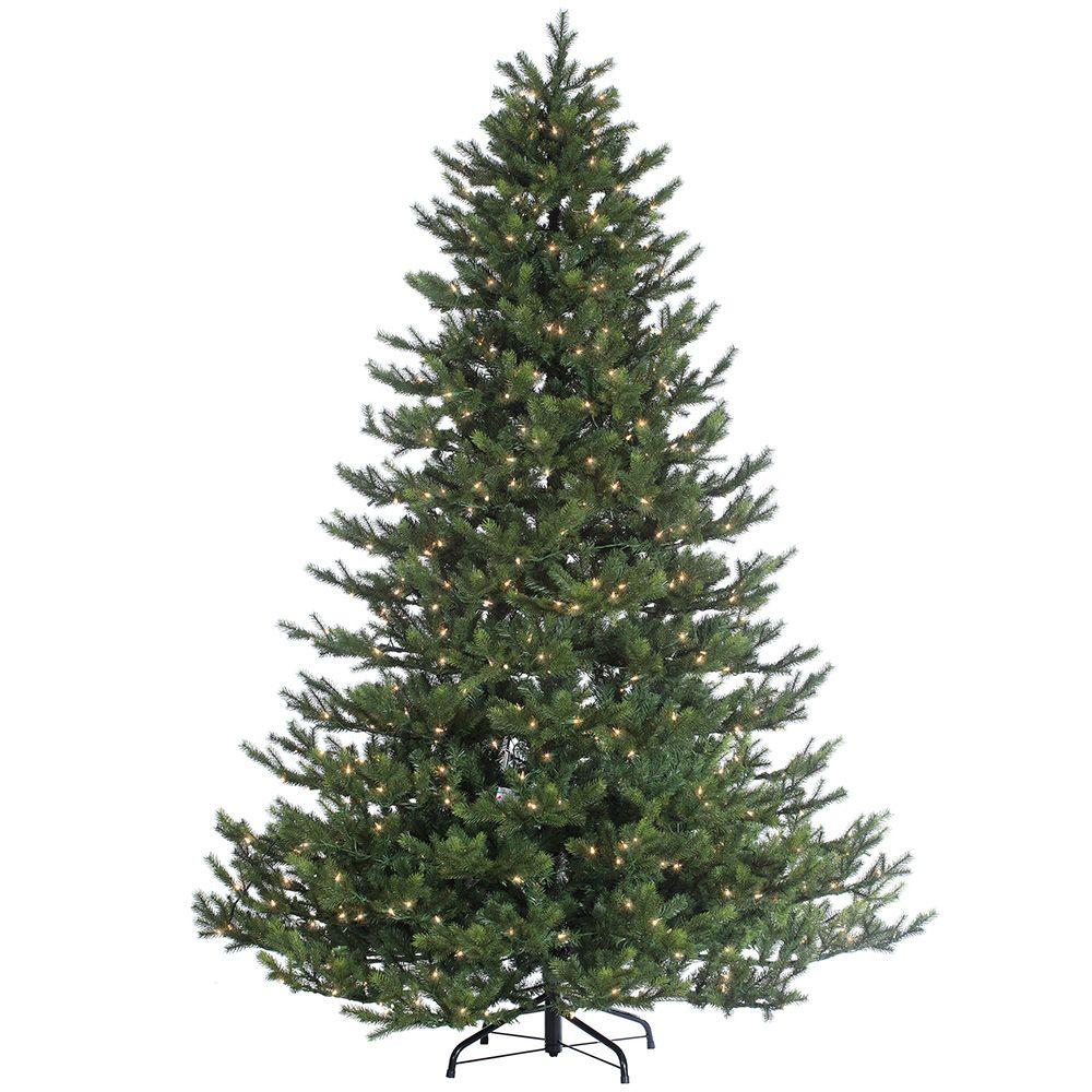 STERLING. 7.5 ft. Pre-Lit Natural Cut Rockford Pine Artificial Christmas Tree with Clear Lights