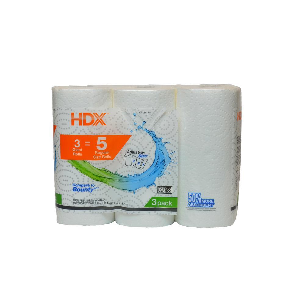 Paper Towels 2-Ply (3 Rolls)