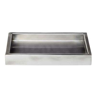 Modern Satin 9 in. Amenity Tray in Stainless Steel