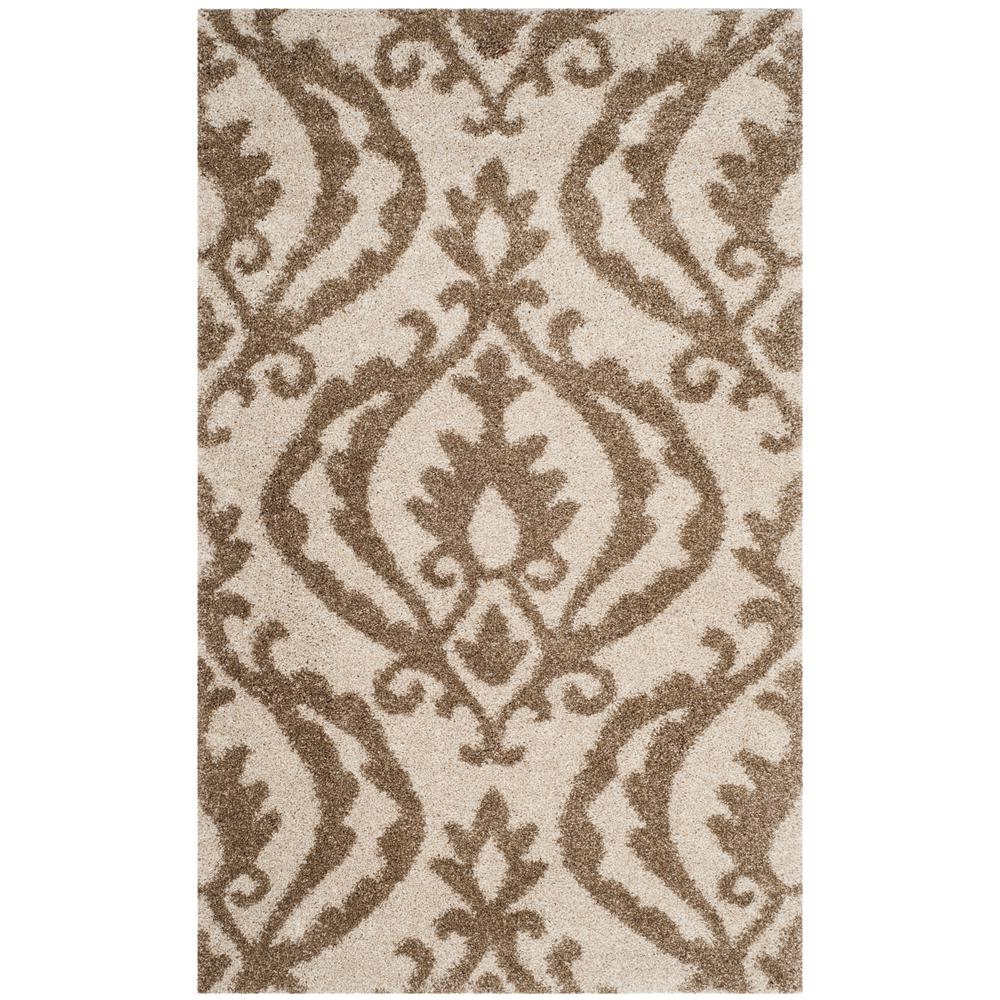World Rug Gallery Florida Turquoise Area Rug Reviews: Safavieh Florida Shag Dark Brown/Smoke 3 Ft. 3 In. X 5 Ft