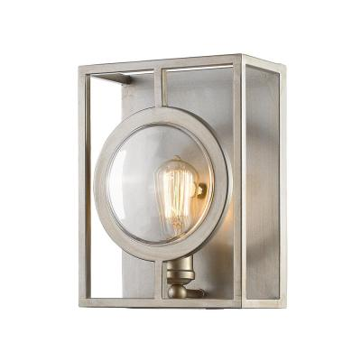 Reeta 1-Light Antique Silver Wall Sconce with Antique Silver Steel Shade