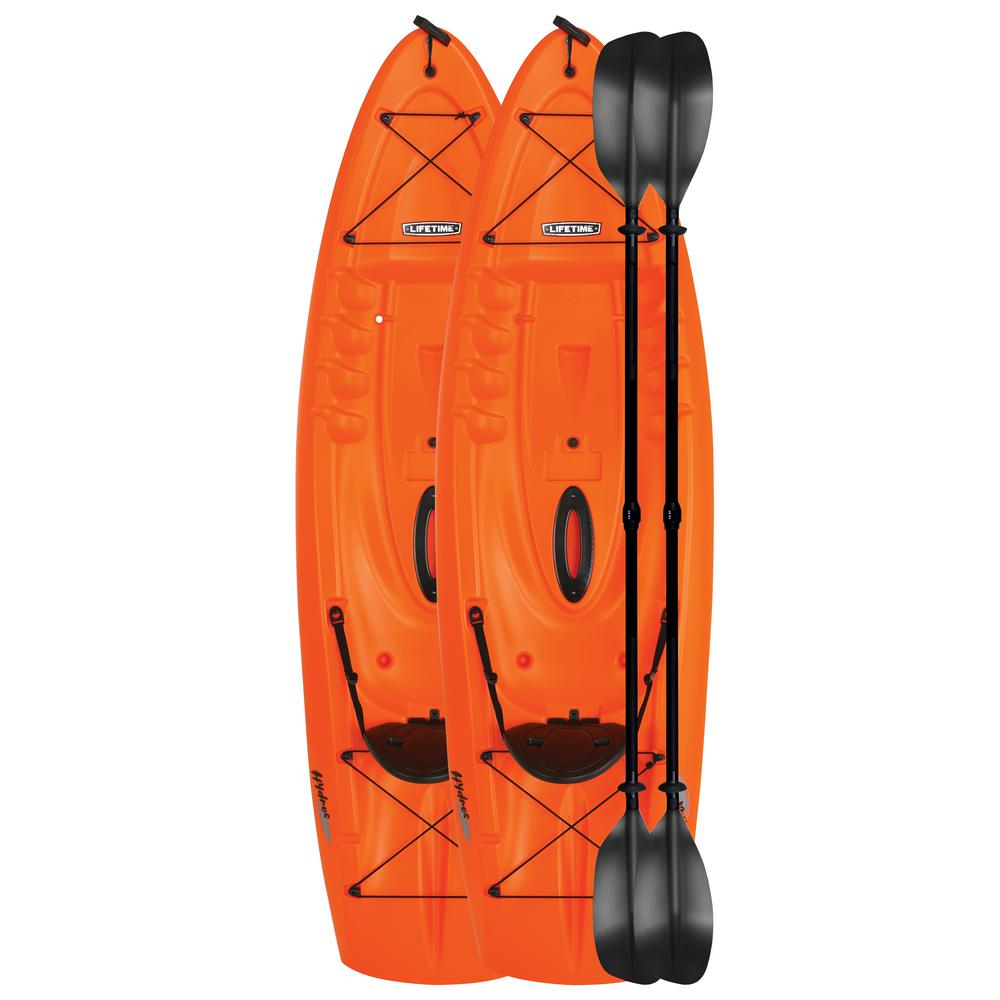 Lifetime Hydros 101 in. Kayak (orange) 2 pk with Paddles