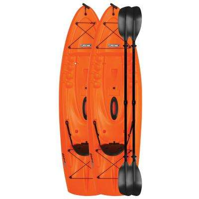 Hydros 101 in. Kayak (orange) 2 pk with Paddles