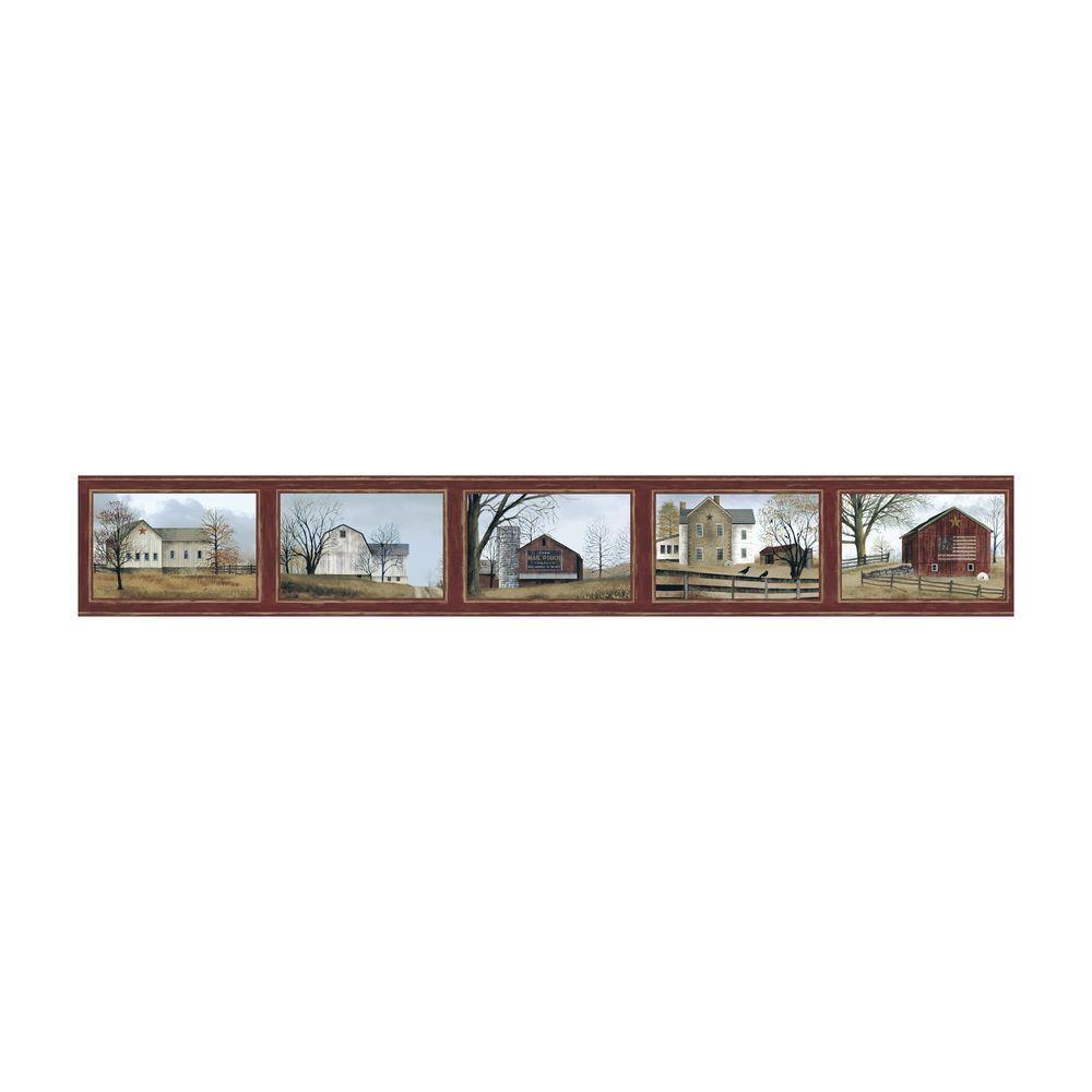 Best of Country Scenic Frames Wallpaper Border